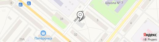 Сеть продуктовых магазинов на карте Новодвинска