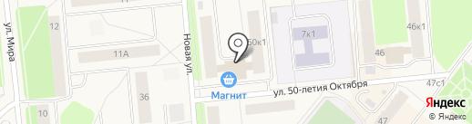 Магазин хлебобулочной продукции на карте Новодвинска