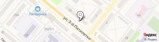 Ландыш на карте Новодвинска