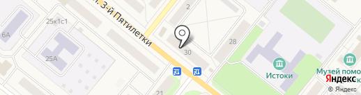Корзина на карте Новодвинска