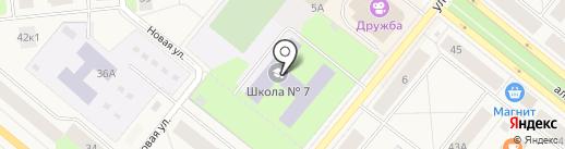 Средняя общеобразовательная школа №7 на карте Новодвинска