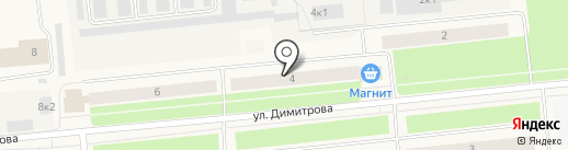 Парикмахерский кабинет на карте Новодвинска