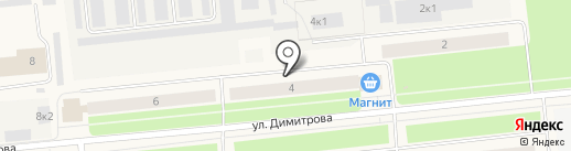 Магнит на карте Новодвинска
