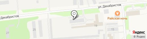 ФОХАТ на карте Новодвинска