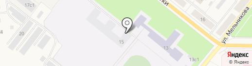 Двери Тека на карте Новодвинска