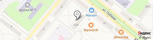 Городская детская библиотека на карте Новодвинска