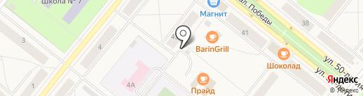 Автостоянка на карте Новодвинска