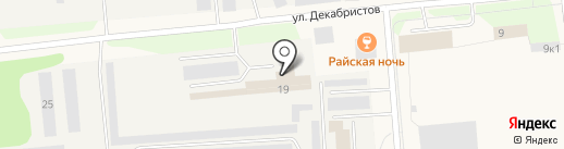 Октан на карте Новодвинска