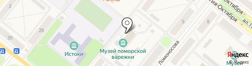 Детский сад №8, Снежинка на карте Новодвинска