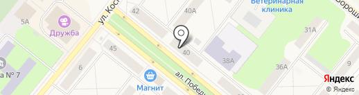 Банкомат, Восточный экспресс банк на карте Новодвинска