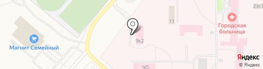 Бюро судебно-медицинской экспертизы на карте Новодвинска