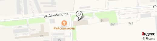Алан на карте Новодвинска