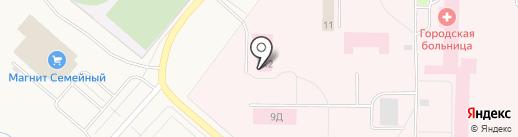 Бюро судебно-медицинской экспертизы, ГБУЗ на карте Новодвинска