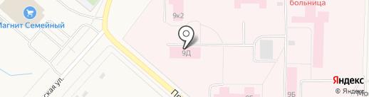 Новодвинская центральная городская больница на карте Новодвинска