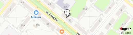 АТК на карте Новодвинска