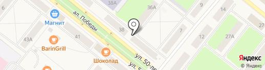 ШиК на карте Новодвинска