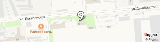 Новодвинский таможенный пост на карте Новодвинска