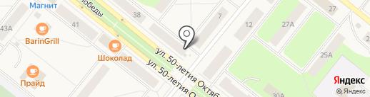Киоск по продаже овощей и фруктов на карте Новодвинска