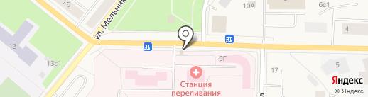 Часовня в честь святого Луки Войно-Ясенецкого на карте Новодвинска