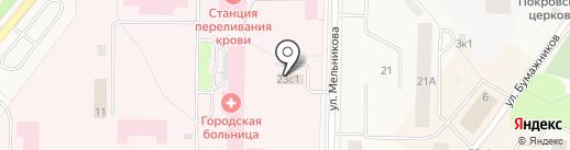 Автомойка на карте Новодвинска