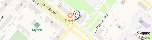 Мастер на карте Новодвинска