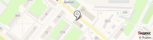 Ремонтно-эксплуатационное управление №5 на карте Новодвинска