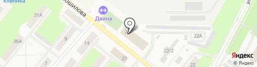 ДЮСШ на карте Новодвинска