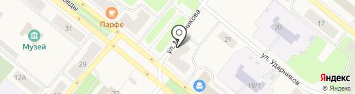 Банкомат, ЮниКредит банк на карте Новодвинска