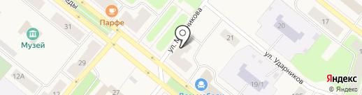 Мир горящих путевок на карте Новодвинска