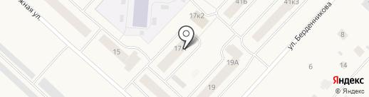 Юнона на карте Новодвинска