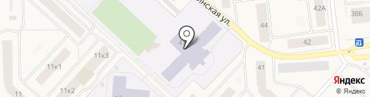 Средняя общеобразовательная школа №3 на карте Новодвинска