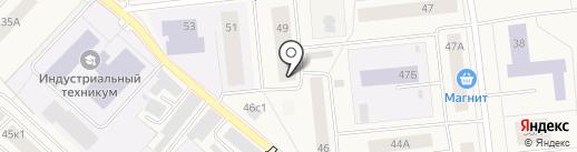 Почтовое отделение №3 на карте Новодвинска