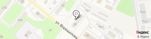 Индиго на карте Новодвинска