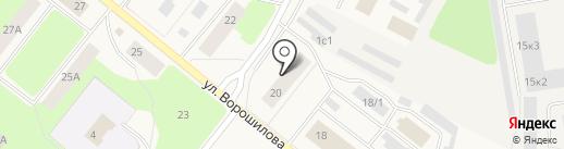 Зеленый город на карте Новодвинска