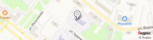 Детский сад №13, Березка на карте Новодвинска