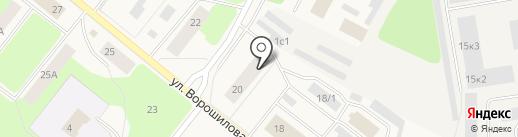 Центральная городская библиотека на карте Новодвинска