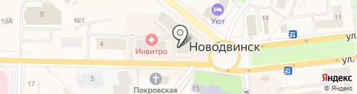 Этикет на карте Новодвинска