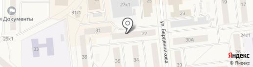 Банкомат, Финсервис Банк на карте Новодвинска