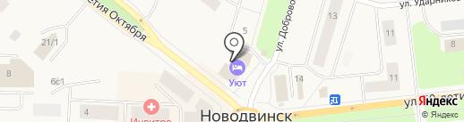 Квартирант на карте Новодвинска
