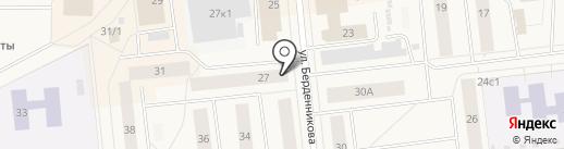 Банкомат, Банк Финсервис на карте Новодвинска
