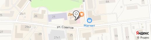Магазин строительных материалов на карте Новодвинска