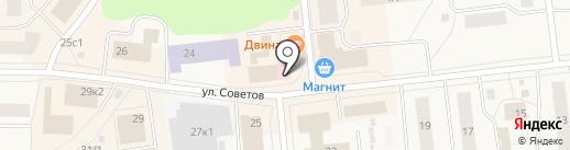 Dariano на карте Новодвинска