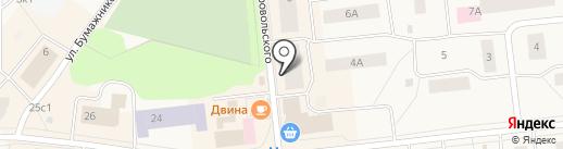 Катюша на карте Новодвинска