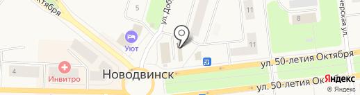 Династия-М на карте Новодвинска