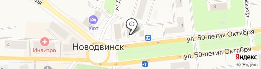 Магазин цветов и сувениров на карте Новодвинска