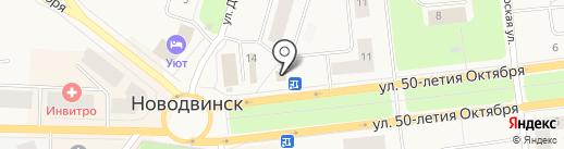 Магазин одежды на карте Новодвинска
