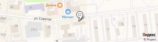 Следственный отдел по г. Новодвинску на карте Новодвинска