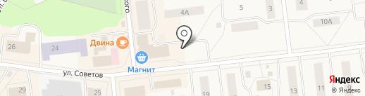 Магазин товаров для сада и огорода на ул. Советов на карте Новодвинска