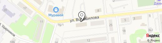 Отделение МВД России Приморский на карте Новодвинска