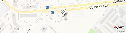 Автошик на карте Новодвинска